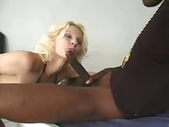 Long Legged Slut Loves Black Cock