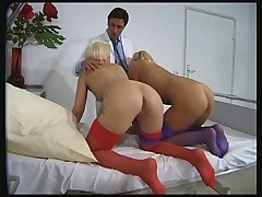 Two young girl in stockings vintage porno