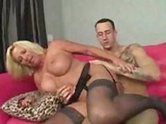 Hot Mature Busty Blonde Cougar Licks Ass