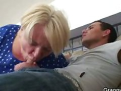 Fat mature fucked by young guy