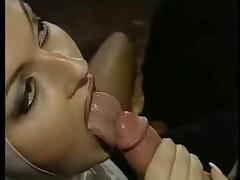 Horny nun for a threesome