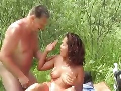 Outdoor blowjob