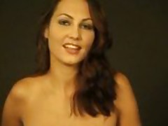 Brunette dancing and revealing all