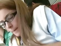 Teen sex on bus