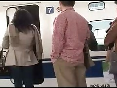 Japanese in train