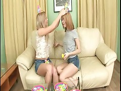 Gorgeous Teen twins in anal fucking Enjoy