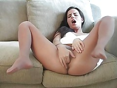 Kobi Masturbates In Tan Pantyhose
