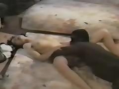 Black midget fucks white woman