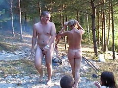 Happy Russian nudists