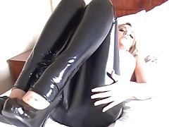 Leather pants fetish