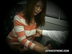 Young Woman caught masturbating in train