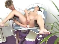 Full gyno exam of pregnant woman