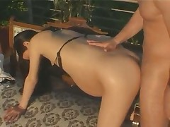 Sweet Preggo banged on Terass