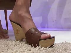 Footjob with heels