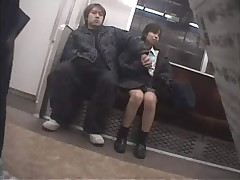 Japanese Girl Public nuisance of mature train