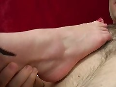 Caramel foot job