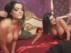British Female twins have a kinky foursome