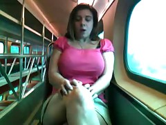 Alix Lakehurst masturbates on a train (Full) Part 1