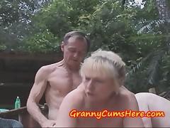Grannies go WILD and eat CUM at PUBLIC Swingers Party