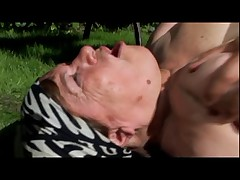 Fat Granny Fucked Outdoors