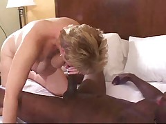 White mature wife gets fucked good and crempied by black man