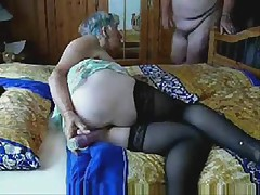 Stolen video of slut granny having fun. Amateur